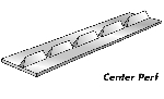 Center Perforator - Card 10 Ft (3m) 16 Teeth
