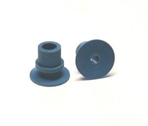 Blue rubber Setmaster sucker. Outer Diameter: 0.70 , Inner Diameter: 0.25 , Height: 0.58