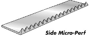 Side Micro Perforators - Paper 10 Ft (3m) 30 teeth